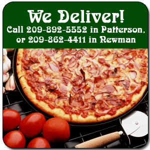 Pizza - Patterson, CA - Pizza Plus - We Deliver! Call 209-892-5552 in Patterson, or 209-862-4411 in Newman